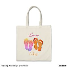 Flip Flop Beach Bags Unique Gifts, Great Gifts, Best Tote Bags, Beach Flip Flops, Beach Bags, Design Your Own, Reusable Tote Bags, Stitch, Accessories