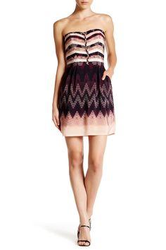 Strapless Print Silk Dress by CHARLIE JADE on @nordstrom_rack