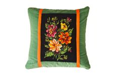 Velvet Floral - Upcycled tapestry cushion by Hector & Bailey Florals, Upcycle, Cushions, Velvet, Tapestry, Throw Pillows, Interior Design, Plants, Decor