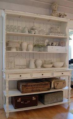 Cocina Shabby Chic, Shabby Chic Kitchen, Shabby Chic Cottage, Shabby Chic Homes, Country Kitchen, Kitchen Decor, Kitchen Ideas, Kitchen Designs, Kitchen Storage