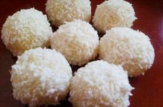 Make and share this Coconut Snowballs recipe from Genius Kitchen. Christmas Desserts, Christmas Treats, Christmas Baking, Holiday Treats, Holiday Recipes, Christmas Cookies, Christmas Recipes, Holiday Foods, Holiday Gifts
