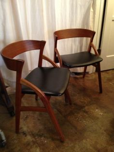 Rare Dyrlund-Smith MCM Danish Bent Teak Chairs —