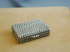 A cute little vintage Tiffany sterling silver pill box that was made in Italy