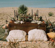 Boho-Glam Beach Elopement Inspiration
