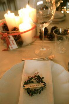Fiore di maggio: Dove mi siedo a tavola?? segnaposto natalizio ghirlanda