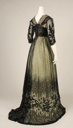 Ball gown, circa 1908.