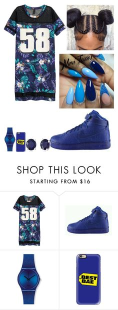 """Don't Worry Collection"" by trill-boss ❤ liked on Polyvore featuring H&M, NIKE, Swatch, Casetify and Effy Jewelry"