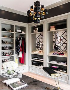 For most women, a dreamy walk-in closet is a must-have feature for any dream house. Who can't resist a space that is filled with your favorite designer dresses, Chanel handbags, jewelry and decorated with fresh flowers?Earlier, we published our favorite closet posts (dreamy walk-in closetsand the biggest closet in the world). Since then, we discovered