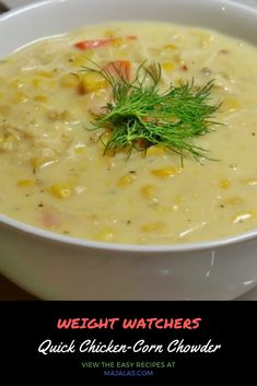 Tomato Toast With Ricotta Cheese is a great weight-loss snack that can also be consumed for breakfast or lunch. Brief quick paced recipe video reveals you how to make Tomato Toast With Ricotta Cheese. Corn Chowder Soup, Chicken Corn Chowder, Clam Chowder, Weight Watchers Soup, Weight Watchers Chicken, Healthy Corn, Healthy Soups, Skinny Recipes, Healthy Recipes