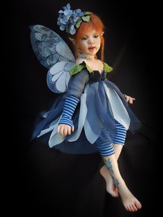 Blue Funky Fairy doll...Lindaa!!