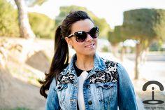 DIY Lace Denim Jacket - Crimenes de la Moda