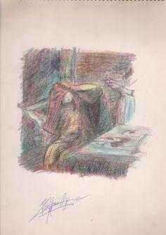 Mujer peinándose, Edgar Degas (Mario Ramos, 2002).