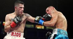 Rios proves his worth in a higher weight class by beating Alvarado by TKO.