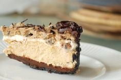 Take a Breath Espresso Chocolate Chip Cookie Dough Fudge Oreo Cheesecake | The Cherry on Top