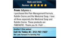 I purchased the Pain Management Formula, Rubitin Creme and the Medicinal Soap...