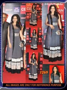 Sridevi Grey Georgette Gown