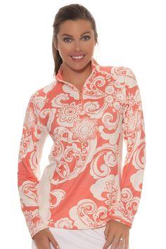 Sun Shirt l SanSoleil SolTek Golf Mock Long Sleeves : 900414