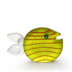 Snippy Small Paperweight: 24-03-32 in Lime Green, Hand-Blown Art Glass by Borowski Glass Studio