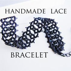 LACE Bracelet . Dark Bracelet . Filigree cuff . by LacyTreasures