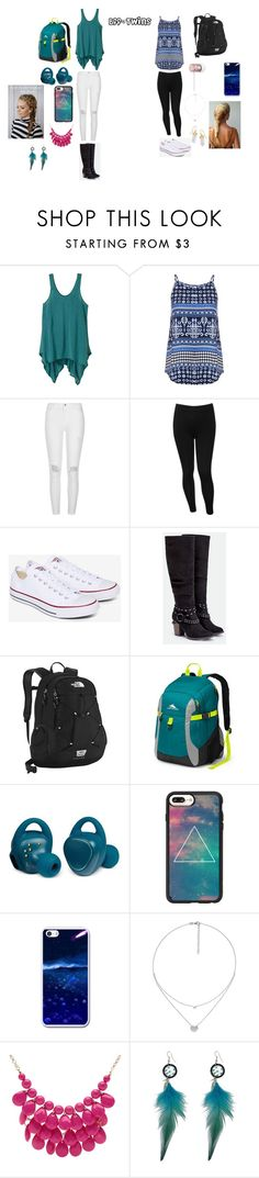 """""""Bff Outfit's"""" by malaysiasmith21 on Polyvore featuring prAna, Dorothy Perkins, River Island, M&Co, Converse, JustFab, The North Face, High Sierra, Samsung and Casetify"""