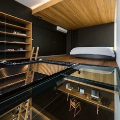 Study and loft bedroom