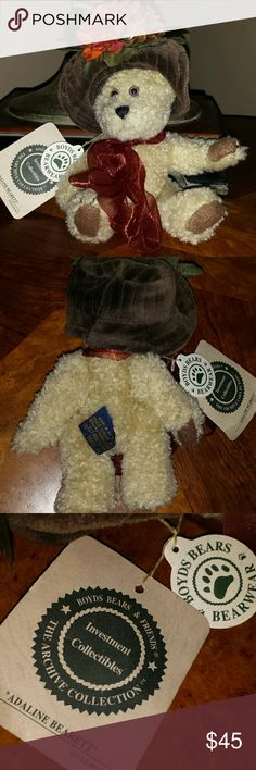 """Boyds Bear Retired Boyds Bear. """"Adaline Bearett"""". Great condition. Movable parts Other"""