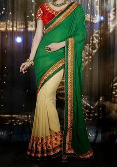 Nirvana Fashion Exclusive Designer Saree.Price: $91.00