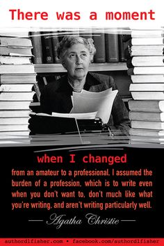 Agatha Christie is the best-selling novelist of all time, with 66 detective novels including (my favorite) Hercule Poirot, and Miss Marple. Writing Memes, Book Writing Tips, Writing Words, Fiction Writing, Writing Skills, Writing Prompts, Writing Software, Writing Motivation, Writer Quotes