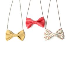 Bow Necklace for Bridal and Baby Shower Favors  by Fr33na on Etsy, $42.50