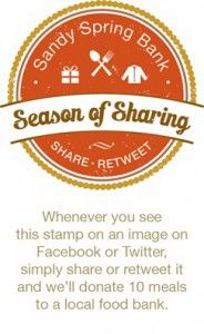 The Season of Sharing at Sandy Spring Bank runs between November 10 and December 20! Sandy Spring has made it easy to give by offering a few ways to ensure more food donations for Marylanders in need.