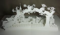 Pop-Up art by Niroot Puttapipatfor the book The Night Before Christmas by Clement C. Moore.