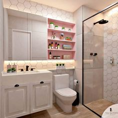 DIY bathroom decor and ideas on a budget. Ideas for organization, storage, decor… – Diy Bathroom İdeas Restroom Design, Bathroom Interior Design, Home Interior, Interior Decorating, Decorating Ideas, Toilette Design, Bad Inspiration, Bathroom Inspiration, Dream Bathrooms