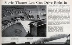 First Drive In Movie Theater | World's First Drive-in Movie Theater | Modern Mechanix