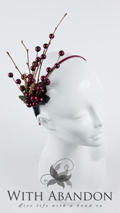 The Cranberry Spray BY AIMEE ALABASTER #millinery #hats #HatAcademy