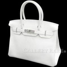 エルメス バーキン30 cm ハンドバッグ ホワイト×シルバー金具 トリヨンクレマンス T刻印 HERMES Birkin バッグ 白