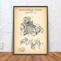 PHOTOGRAPHIC CAMERA patent print vintage camera by PrintPoint