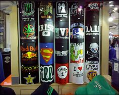 t shirt display / hubby's college days