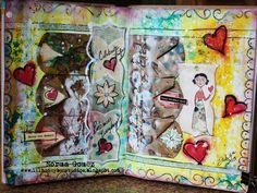 Art+Journal+Pages | Celebrate Life - Art Journal Page