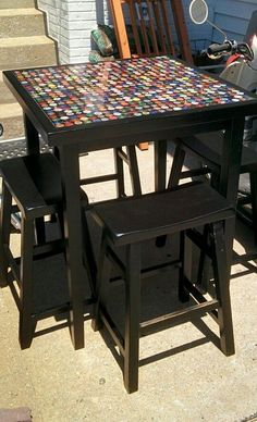Thinking of what to do with your old table that's seen better days? Why not give it a makeover! And it doesn't have to be expensive – use recycled bottle caps! Depending on the size of your table, you might need some time to collect enough bottle caps. You can ask for help from local bartenders. Get your friends to help you collect too. After you've collected the bottle caps decide on your pattern. You can arrange the caps according to color or design, your imagination is the limit. Click...