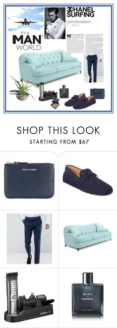 """""""business man"""" by dijana1786 ❤ liked on Polyvore featuring Comme des Garçons, Tod's, Noose & Monkey, Kate Spade, BaByliss, Chanel, Ted Baker, men's fashion and menswear"""