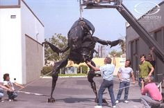 James Cameron films Stan and crew putting the Garbage Bag Alien Queen through her paces.
