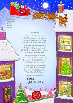 A lovely santas poem letter frosanta christmas time nspcc letter from santa 2013 babys first christmas spiritdancerdesigns Images