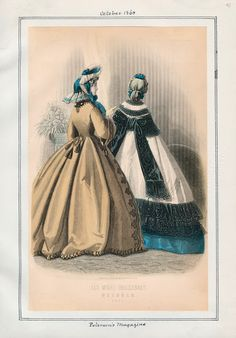 In the Swan's Shadow: Peterson's Magazine, October 1863.  Civil War Era Fashion Plate