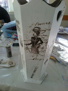 Resultado de imagen de paragueros pintados a mano - Percheros paragueros antiguos ...