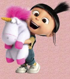 Agnes Funny Minion Pictures, Cute Cartoon Pictures, Cute Cartoon Girl, Funny Phone Wallpaper, Disney Phone Wallpaper, Disney Cartoons, Disney Pixar, Cute Disney Characters, Agnes Despicable Me