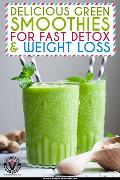 Green Smoothies For Detox & Fast Weight Loss. Find more relevant stuff: victoriajohnson.wordpress.com  #FitnessVictoria
