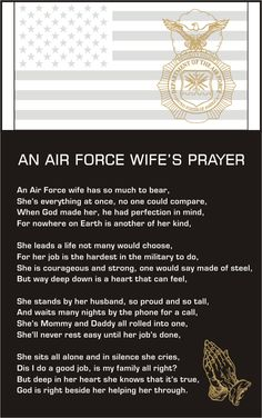 Air Force Wife's Prayer