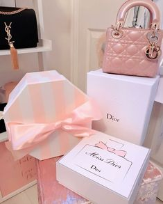 Doesn't get more girly than pink designer bags and hat boxes. 🙂 Doesn't get more girly than pink designer bags and hat boxes. Princess Aesthetic, Pink Aesthetic, Luxury Bags, Luxury Handbags, Lv Handbags, Girly Girl, Cute Pink, Pretty In Pink, Cristian Dior