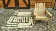 DIY Adirondack Chair Plans - Simple Plans for a Comfortable, Beautiful and Inexpensive Patio, Backyard, or Fire Pit Chair Lawn Furniture, Diy Outdoor Furniture, Pallet Furniture, Furniture Plans, Rustic Furniture, Home Furniture, Antique Furniture, Modern Furniture, Luxury Furniture