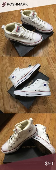 4e9acaf39eacff White converse Brand new ! Never worn with box ! Converse Shoes White  Converse